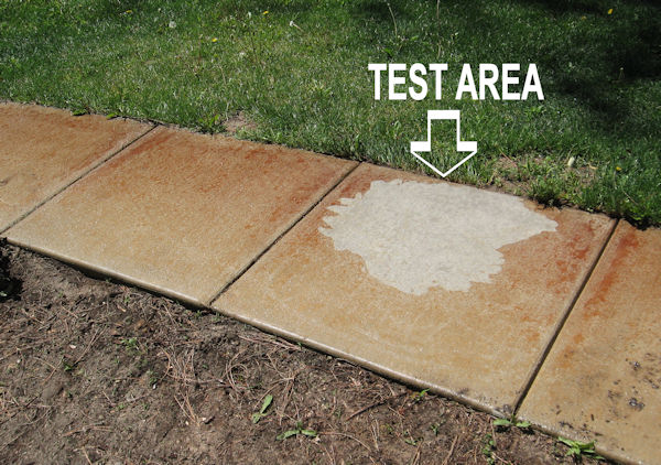 Charming Customer Tests Concrete Rust Remover On 6 Year Old Rust Stains. Rusty Stone  Patio