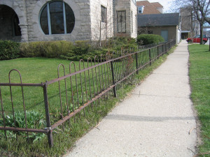 Wrought Iron Fence Before Using Rust Converter