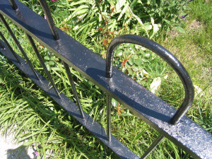 Photo of Wrought Iron Fence after using Rust Converter