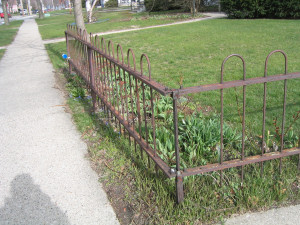 Photo showing Wrought Iron Fence Before Using Rust Converter