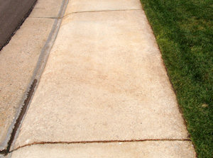 Rust removed from side-walk