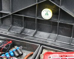Protecting tool box from rust.